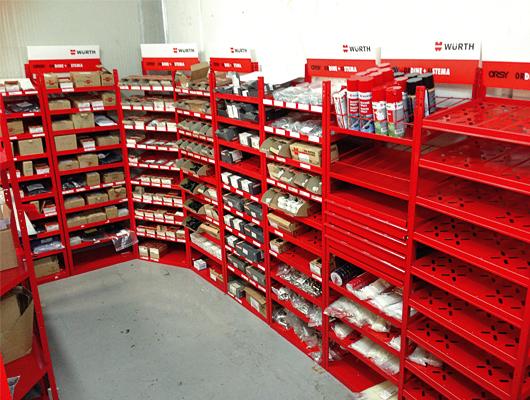 Sistemi logistici Würth installati presso clienti Würth Italy